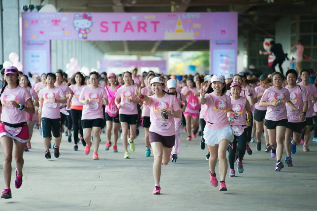 「世界中のハローキティ好き集結!タイ・バンコクで「ハローキティラン」初開催」の画像