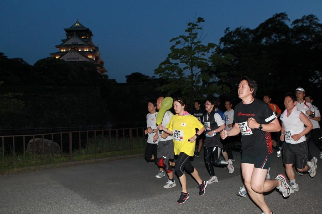 「スポニチ大阪城公園ナイトラン」の画像