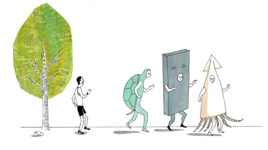 「【ランナーあるある】仮装ランナーに追い抜かされるも、抜き返す気力が出ない……。」の画像