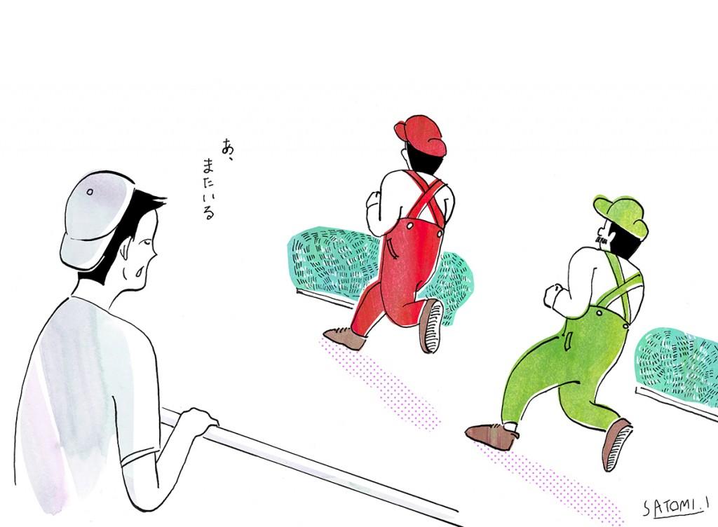 「【ランナーあるある】どのレースでも見かけるマリオとルイージ」の画像
