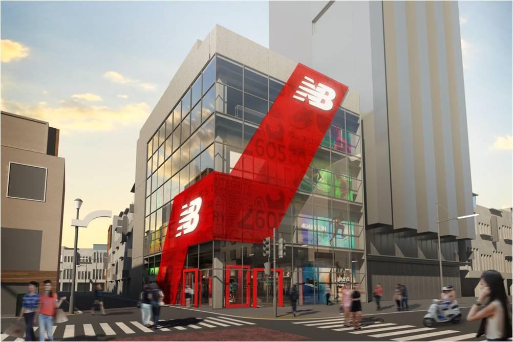 「【ニューバランス】日本初、 世界最大級のグローバルフラッグシップストアを渋谷にオープン! 札幌、梅田にも出店へ」の画像