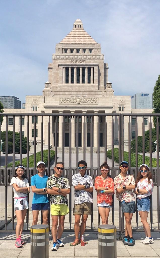 """「「Runtrip via Nagatacho」に参加!! アロハシャツがランイベントで""""アリ""""だった件」の画像"""