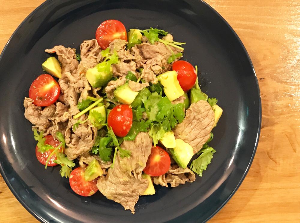 「管理栄養士が考えるランナーメシ! 脂肪燃焼!【牛肉のピリ辛エスニック和え】の簡単レシピ」の画像