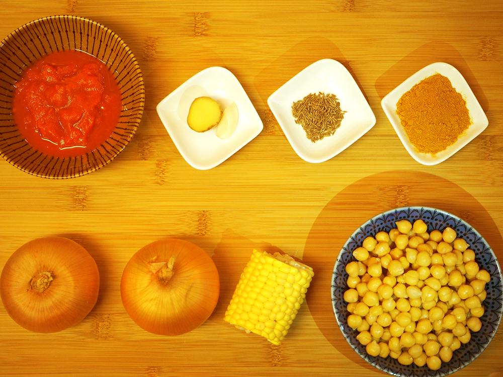 「キリン食堂・管理栄養士が考えるRUN飯!わずかな材料でできる【ヒヨコ豆のカレー】」の画像
