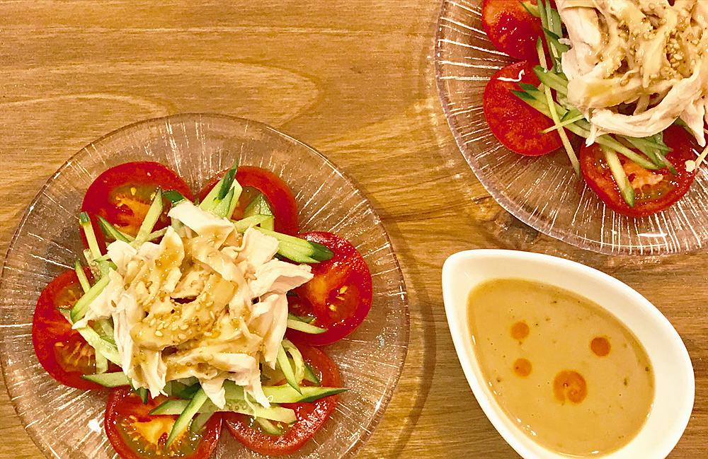 「管理栄養士が考えるランナーメシ! 高たんぱく質&低脂肪【鶏ササミの手作りごまだれがけ】の簡単レシピ」の画像