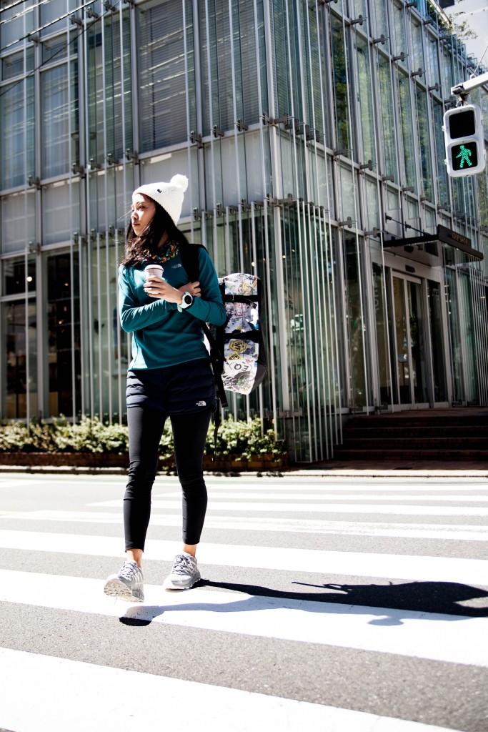 「ノースフェイス・CPFUがおしゃれ!! シーン別ランニングウェアコーディネート」の画像