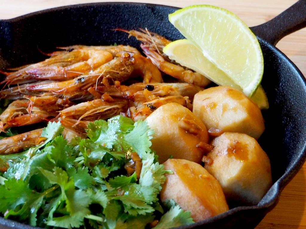 「管理栄養士が考えるランナーメシ!旬の里芋で胃腸をサポート!【エビと里芋のエスニック焼き】」の画像