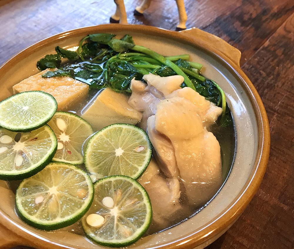 「管理栄養士が考えるランナーメシ!スポーツ貧血対策!【鶏と小松菜のすだち鍋】」の画像