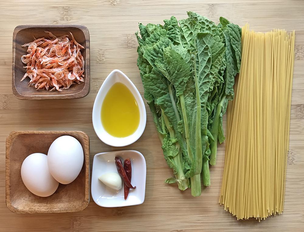 「管理栄養士が考えるランナーメシ!春野菜でビタミン・ミネラル補給!【菜の花と桜エビのパスタ】」の画像