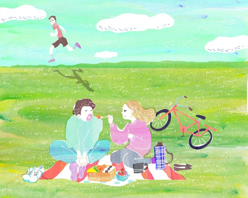 「【ランナーあるある】ランニングする僕と自転車で併走する彼女」の画像
