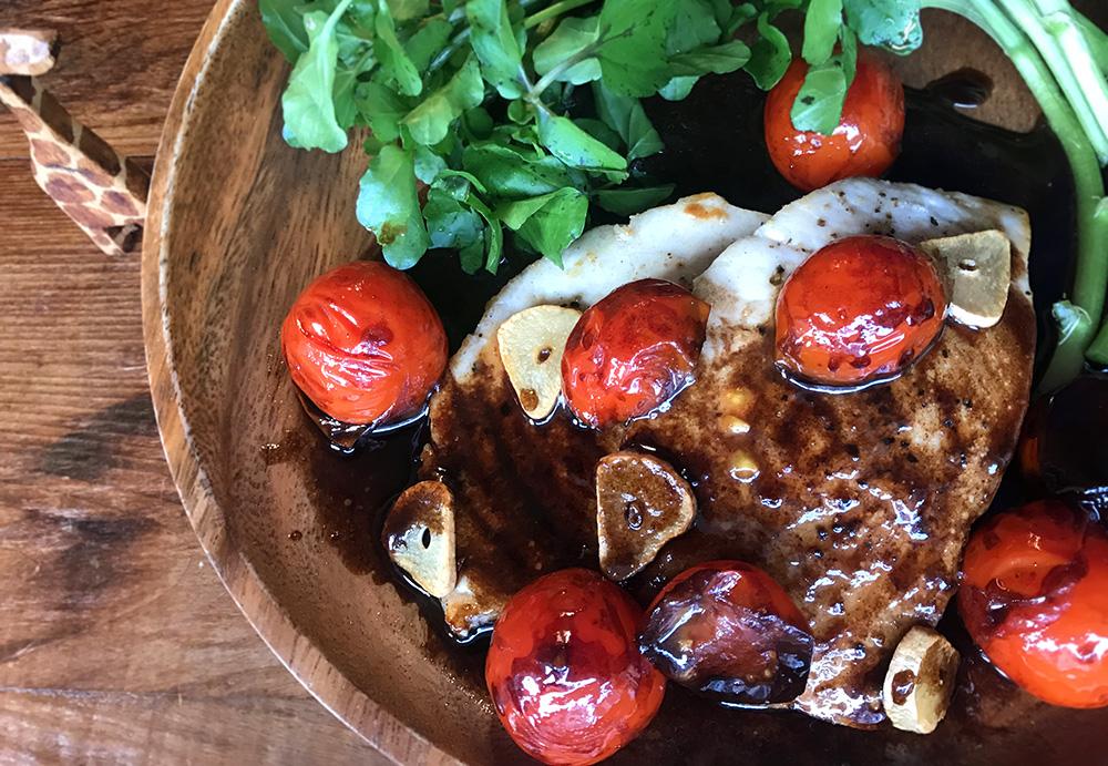 「管理栄養士が考えるランナーメシ!旬の魚とバルサミコ酢でダイエット!【メカジキのステーキ ~バルサミコソース~】」の画像