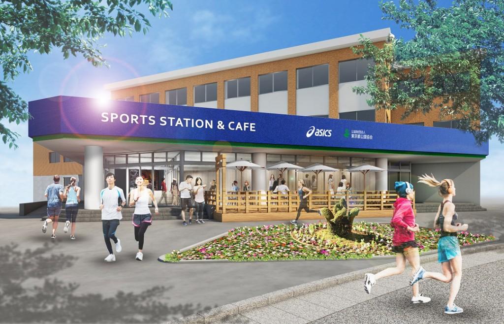 「アシックスからスポーツをテーマとした『SPORTS STATION & CAFE』が日比谷公園内にオープン!」の画像