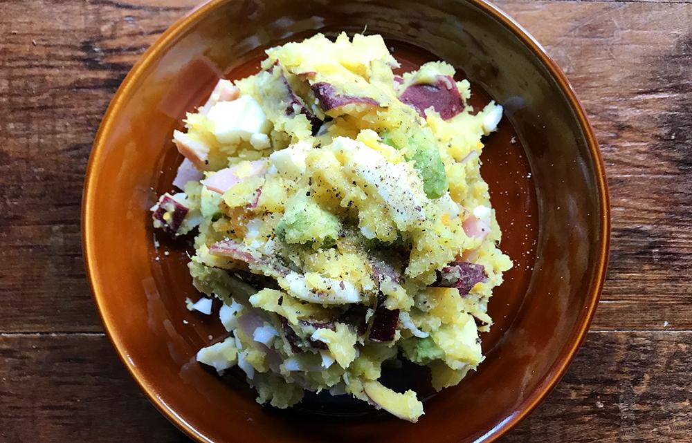 「太りにくい!?  RUN後に食べたい!管理栄養士・麻生のRUNレシピ【サツマイモのポテトサラダ】」の画像