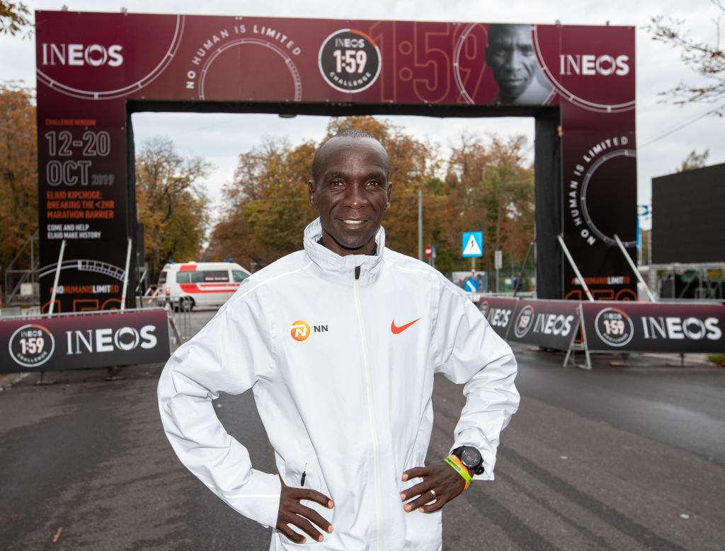 「キプチョゲがフルマラソン2時間切り達成!「イネオス1:59チャレンジ」」の画像
