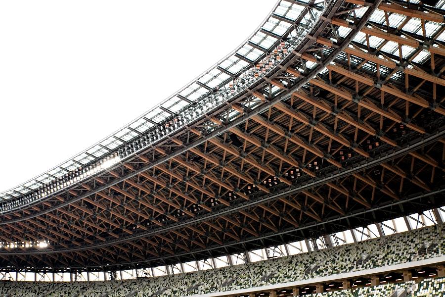 「選手目線でみる新国立競技場も美しい。「国立競技場 ASICS FIRST RUN」開催」の画像
