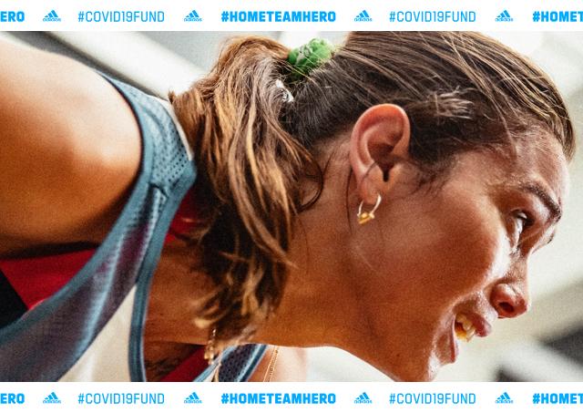 「アディダスがエッセンシャルワーカーを支援するバーチャルスポーツイベント「#HOMETEAMHERO CHALLENGE」を開催」の画像