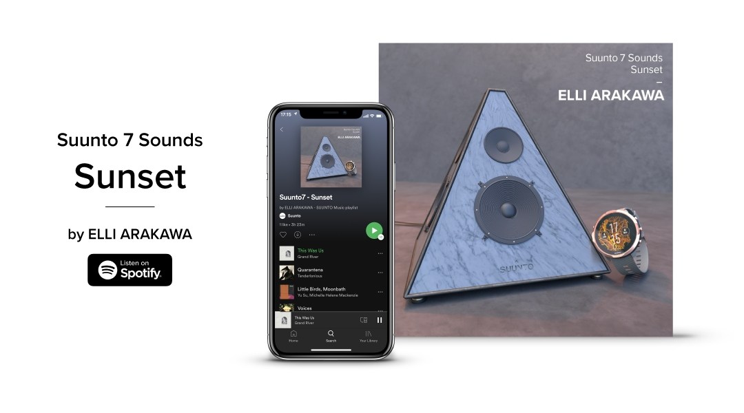 「SUUNTOがユーザー向けの音楽プレイリスト「Suunto 7 Sounds」を配信中」の画像
